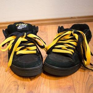 "Rare Vans Black Yellow ""BL"" Skater Shoes Size 8"